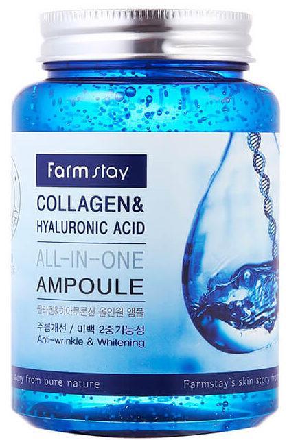 Farmstay «All-In-One Collagen & Hyaluronic Acid Ampoule»