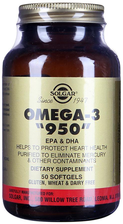 «SOLGAR»Тройная Омега-3 950 мг ЭПК и ДГК 50