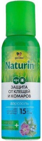 Аэрозоль Gardex Naturin от комаров и клещей на одежду, 100 мл