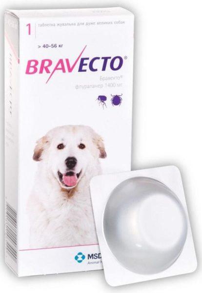 Бравекто (MSD Animal Health) от 40 до 56 кг
