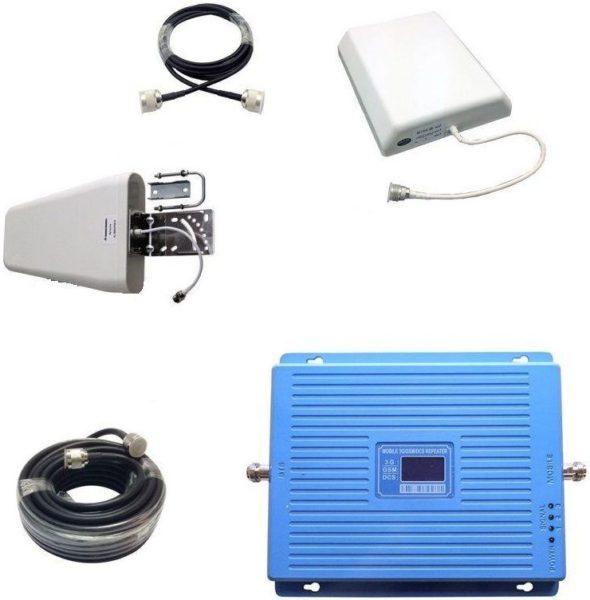 Трехдиапазонный усилитель сотовой связи GSM 3G 4G Комплект