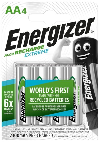 Energizer Accu Recharge Extreme AA