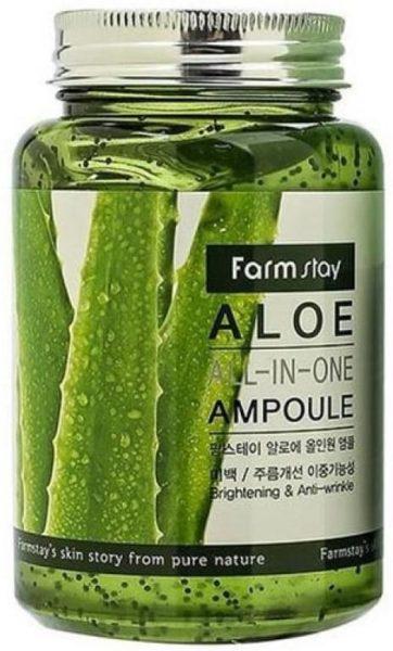 Farmstay All-In-One Aloe Ampoule с экстрактом алоэ, 250 мл