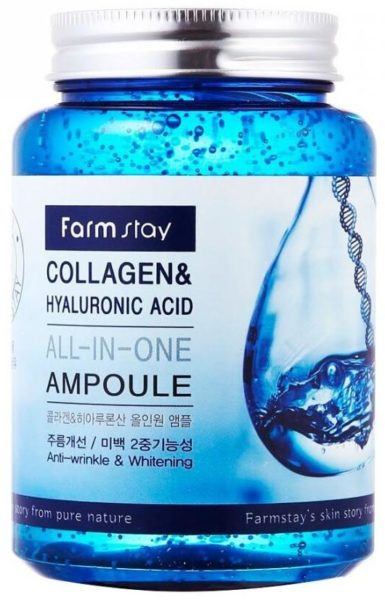 Farmstay All-In-One Collagen & Hyaluronic Acid Ampoule