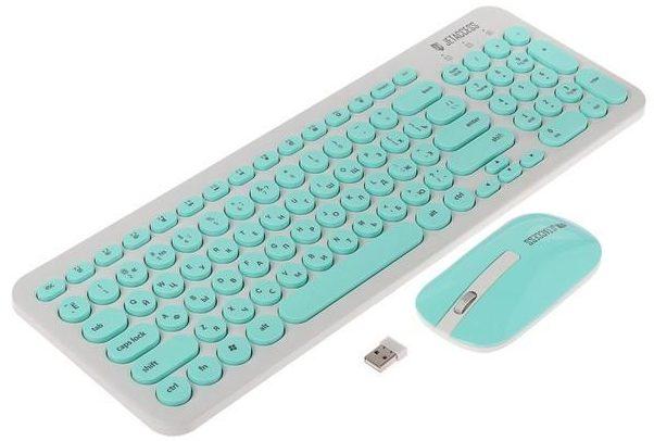 Jet.A Slim Line KM30W White-Turquoise USB