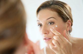 использование крема вокруг глаз