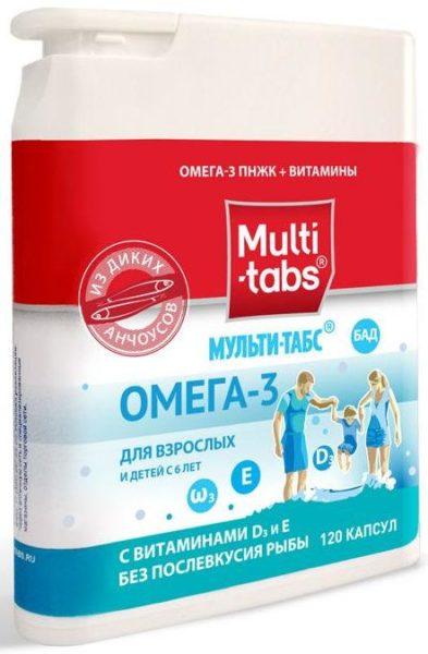 Мульти-табс Омега-3 с витаминами Д3 и Е