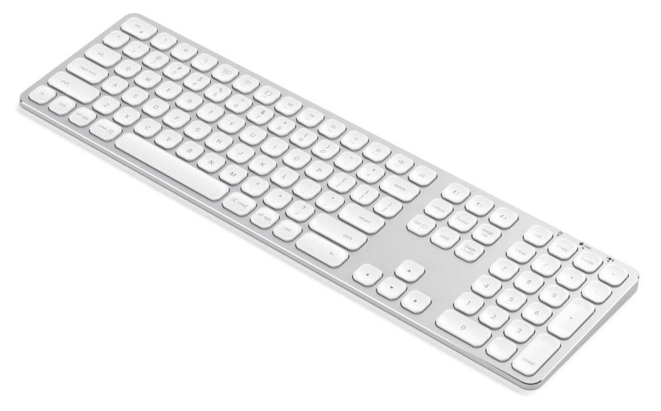 Satechi Aluminum Wireless Keyboard with Numeric Keypad Silver Bluetooth