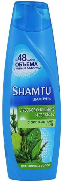 Shamtu шампунь до 48 часов объема с Push-up эффектом Глубокое очищение и свежесть