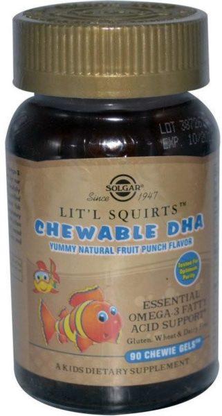 Солгар Lit'l Squirts Chewable DNA Золотые рыбки
