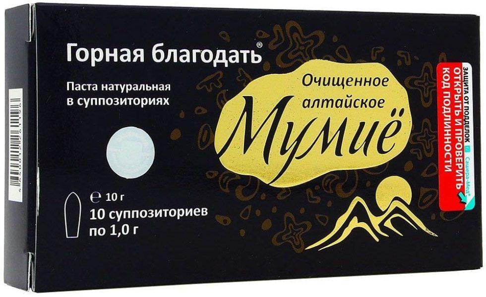 Свечи Горная благодать Мумиё ректально-вагинальное №10